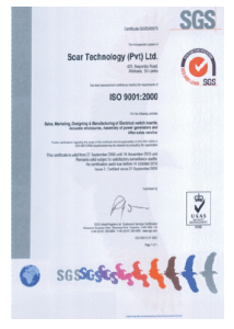 The first ISO 9001:2008 Certified Company in Sri Lanka in the field of Power Generation and Associated Products